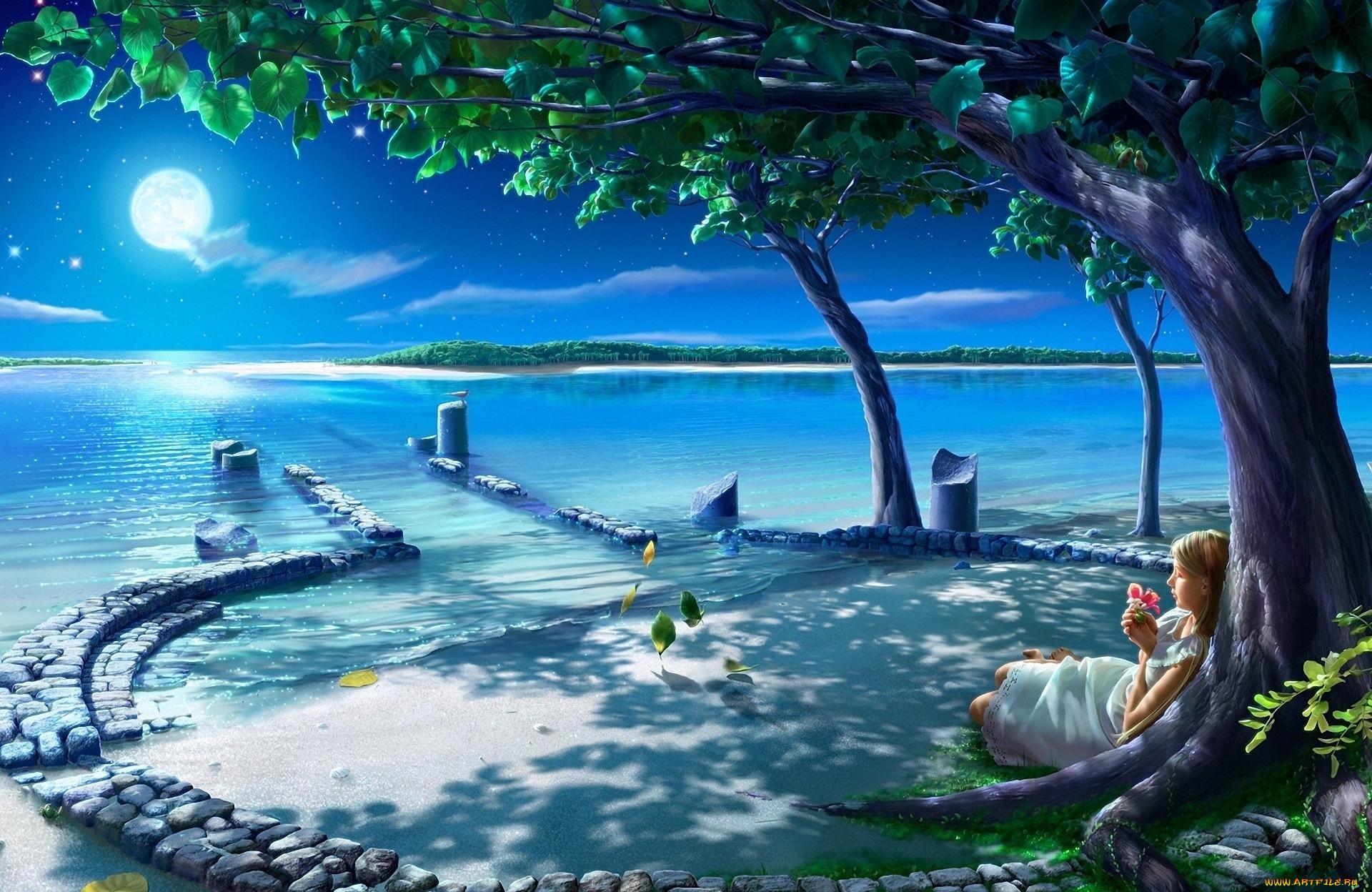 фэнтези картинки природа море головки можно купить